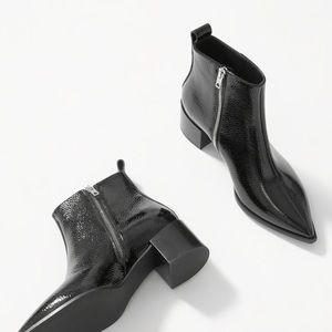 Everlane The Boss Boot Black Patent 10